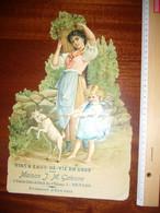 Publicité Fin XIXe Début XXe Sur Carton épais Gaufré - Maison J M Galesne à Rennes ( Ille Et Vilaine) - Posters