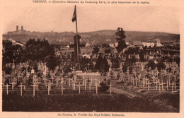 CPA - VERDUN - Cimetière Militaire Du Faubourg Favé ... - Oorlogsbegraafplaatsen