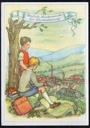 A5516 - Anita Rahlwes Glückwunscharte - Schulanfang - Neubert Chemnitz - Künstlerkarte - Primero Día De Escuela