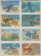 ISRAEL 2001 GOLD CARD AMERICAN AIRCRAFT AVIATION FULL SET OF 20 CARDS - Aerei