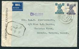1943 India Lloyds Bank, Rawalpindi Censor Airmail Cover - Toronto Canada - 1936-47 King George VI