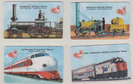 CHINA TRAIN LOCOMOTIVE RAILWAY FULL SET OF 4 CARDS - Trains