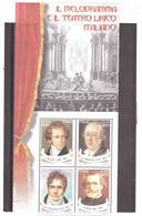 2000 IL MELODRAMMA E IL TEARTO LIRICO ITALIANO FOGLIETTO - Blocchi & Foglietti