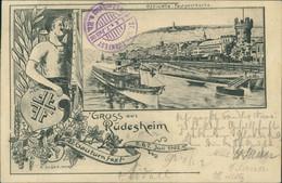 AK Gruss Aus Rüdesheim 27. Gauturnfest 5. 6. 7. Juli 1902 (2-287) - Ruedesheim A. Rh.