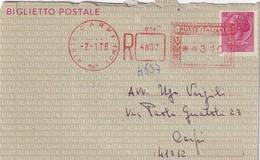 ITALIE 1976    ENTIER POSTAL/GANZSACHE/POSTAL STATIONERY LETTRE RECOMMANDEE DE CARPI - Interi Postali