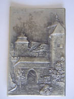 Cpa Rothenburg O.T. Kobolzellertor Metal Argenté Relief épais Verlag Herm. A. Peters Bonn D.R.P.a. - Rothenburg O. D. Tauber