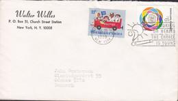 United Nations WALTER WELLES, NEW YORK 1980 Cover Brief ODENSE Denmark UNICEF Stamp - Briefe U. Dokumente