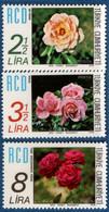 Turkey 1978 RCD Roses 3 Values Mi 2459-59 MNH 2107.0559 - Rose