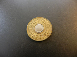 Token New York City Transit Authority - Good For One Fare - Unclassified