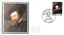 [910906]TB//-Belgique 1977 - N° 1860, 4280 HANNUT, FDC Soie, Année Internationale P.-P. Rubens, Artistes, Peinture - Tab - 1971-80