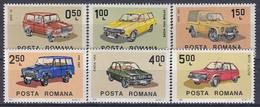 ROMANIA 3950-3955,unused,cars - Nuovi