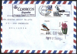Mailed Cover With  Stamps Flora Flower Fauna Bird EXPO 2007 From Spain - 2001-10 Storia Postale