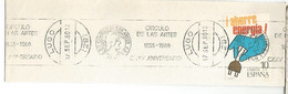 FRAGMENTO CON MAT RODILLO LUGO 1980 CIRCULO DE LAS ARTES - 1971-80 Storia Postale