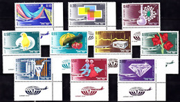 IL42- ISRAEL – 1968 - AIRMAIL – EXPORTS – Y&T # 38/47 MNH 10 € - Airmail