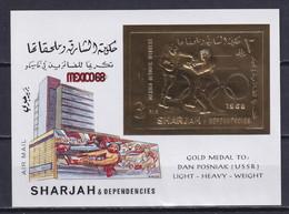 SHARJAH 1968, Mi# Bl 45, Golden Foil, Sport, Olympics Mexico, MNH - Estate 1968: Messico