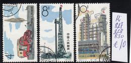 China 1964  Used MI: 827,828,830 - Ungebraucht
