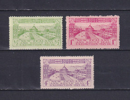 NEW ZEALAND 1925, SG# 463-465, CV £32, Architecture, MH - Unused Stamps