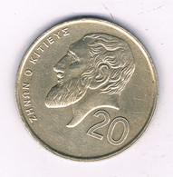 20 CENTS 1993 CYPRUS /7689/ - Chipre
