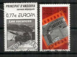 ANDORRE. EUROPA 2004.  Les Vacances En Andorre, 2 Timbres Oblitérés Andorre, 1 ère Qualité - Usati