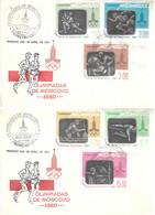 MOZAMBIQUE 1980 Olympic Games Moscow FDC - Mozambique