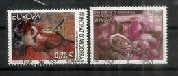 ANDORRE. EUROPA 2005.  La Gastronomie En Andorre, 2 Timbres Oblitérés Andorre, 1 ère Qualité - Usati