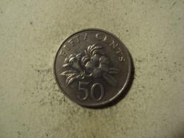 MONNAIE SINGAPOUR 50 CENTS 1995 - Singapore