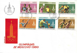 MOZAMBIQUE 1980 Olympic Games Moscow FDC - Ete 1980: Moscou