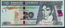 GUATEMALA P124d ? 20 QUETZALES  #EE 31.1.2018  NEW DATE     UNC. - Guatemala