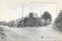 Teillay - Le Carrefour -1951   - Ecrite - Otros Municipios