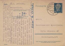 Warnemünde 1954 > RA Spachtholz München - Literatur Gedichte - Postkarten - Gebraucht
