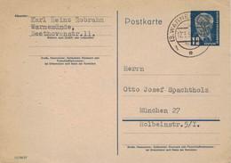 KH Robrahn Warnemünde 1954 > RA Otto Josef Spachtholz München - Literatur Gedichte - Postkarten - Gebraucht
