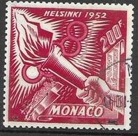 Monaco VF TB 18 Euros 1953 Olympics 1952 - Gebruikt