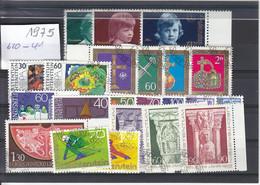 Liechtenstein Jahrgang 1975 Gestempelt O, MiNr. 620-641 - Gebraucht