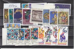 Liechtenstein Jahrgang 1976 Gestempelt O, MiNr. 642-666 Mit Dem Block - Gebraucht