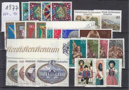 Liechtenstein Jahrgang 1977 Gestempelt O, MiNr. 667-691 - Gebraucht