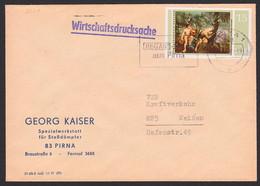 Merkur Und Argus Gemälde P.P. Rubens, 15 Pfg. DDR 2230, Wirtschaftsdrucksache Pirna Spezialwerkstatt Dtoßdämpfer - Briefe U. Dokumente