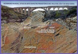 España. Spain. 2021. HB. Patrimonio Mundial. Sitios De Arte Rupestre Prehistórico Del Valle Del Côa Y De Siega Verde - 2011-2020 Nuevos & Fijasellos