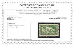 YV 269 N** Signé Calves + Certificat , Les Coiffes, Luxe Cote 350 Euros - Unused Stamps
