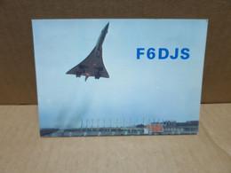BOUFFEMONT (95) Carte Radio Amateur Illustrée Avion Concorde à Toulouse - Bouffémont
