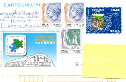 2008 Cartolina Postale Alpeadria Caorle 0.60 L + Extra Stamps . No Cancellations . Card To Belgium - Interi Postali