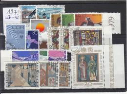 Liechtenstein Jahrgang 1979 Gestempelt O, MiNr. 723-740 - Gebraucht