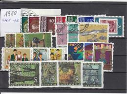 Liechtenstein Jahrgang 1980 Gestempelt O, MiNr. 741-763 - Gebraucht
