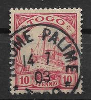 Deutsche Auslandspost,  Schöner Gestempelter Wert Der Ausgabe Für Togo Von 1900, AGOME-PALIME - Colonie: Togo