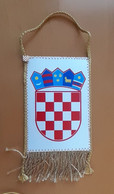 Croatia Coat Of Arms  Pennant 85x160mm And Pin - Unclassified