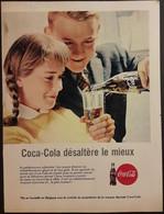 Publicité Papier 1961 Coca-Cola Désaltère Le Mieux 20 X 26, 5 Cm - Altri