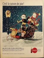 Publicité Papier 1961 Coca-Cola Noël Les Fêtes De Fin D'année C'est La Saison De La Joie 20 X 26, 5 Cm - Altri
