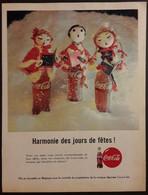 Publicité Papier 1961 Coca-Cola Harmonie Des Jours De Fêtes 20 X 26, 5 Cm - Altri