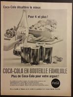Publicité Papier 1961 Noir Et Blanc Coca-Cola  20 X 26, 5 Cm - Altri