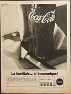 Publicité Papier 1961 Noir Et Blanc Coca-Cola Désaltère Le Mieux  20 X 26, 5 Cm - Altri