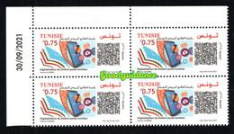 2021- Tunisie -Journée Mondiale De La Poste Digitalisation Du Timbre-poste Tunisien- QR Code -Bloc -MNH**Coin Daté - Journée Du Timbre